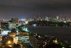 Back Bay and Cambridge Overcast Night Royalty Free Stock Image
