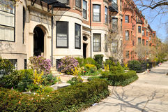 Back Bay Luxurious Apartments. Back Bay Apartments in the Spring stock photography