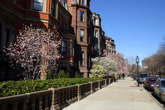 Back Bay and neighboring Beacon Hill are considered Boston's most upscale and desirable neighborhoods Stock Images