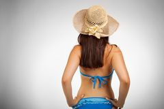 Back of beach girl Royalty Free Stock Photography