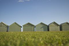 Back of beach houses in Hove, England Stock Images