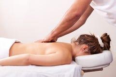 back beautiful getting massage woman young Стоковая Фотография