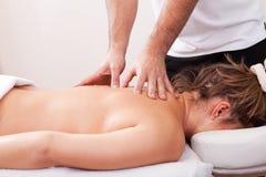 back beautiful getting massage woman young Стоковые Фотографии RF