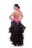 Back of a beautiful woman dancer Royalty Free Stock Photos