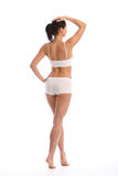 Back of beautiful woman with toned fit body Stock Photo