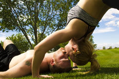 Back Bend Kiss Royalty Free Stock Images