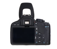 Back of  black camera Royalty Free Stock Image