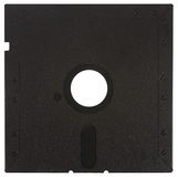 Back of a black floppy disk Stock Photos