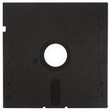 Back of a black floppy disk Stock Photos