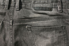 Back black jeans textile Royalty Free Stock Image