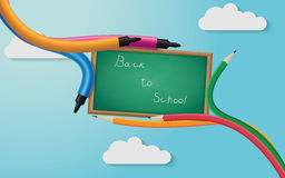 back blackboard school to Arkivfoton