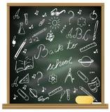 back blackboard school to Royaltyfri Fotografi