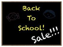 back blackboard school to 免版税库存图片