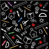 back blackboard school to Стоковое Фото