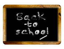 back blackboard school to 库存照片