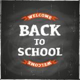 back blackboard school to 图库摄影