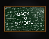 back blackboard school to Fotografering för Bildbyråer