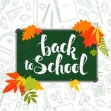 back blackboard school to 免版税库存照片