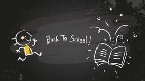 back blackboard school to 库存图片