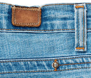 The back of the blue jeans Stock Image