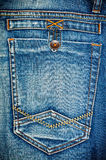 The back of the blue jeans with Leib and strap Stock Image