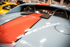 Back of a blue sport car Royalty Free Stock Photo