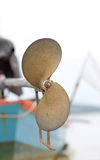 The Back Of Boat Propeller. Royalty Free Stock Image