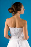 Back of the bride Royalty Free Stock Images