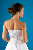 Back of the bride Stock Photo