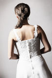 The back of the bride Royalty Free Stock Photos