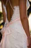 Back of bride in wedding dress Stock Photography