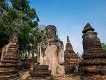 Back of broken ancient Buddha Royalty Free Stock Photography