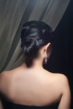 Back of brunette woman with hairstyle Royalty Free Stock Photography
