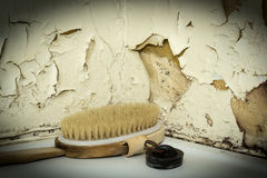 Back brush and a bath plug Royalty Free Stock Photos