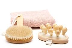 Back brush and massage brush Royalty Free Stock Photo