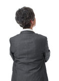 Back of businesswoman Royalty Free Stock Photos
