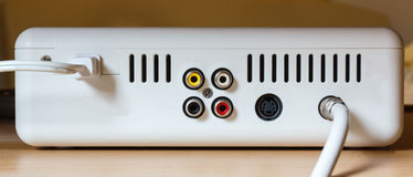 Back of cable box. Stock Photos
