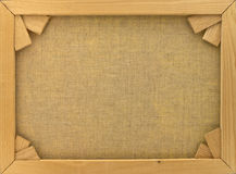 Back of Canvas in Wooden Frame Stock Image