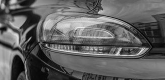 Back car Lights. Black and white Royalty Free Stock Images