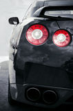 Back car lights. Back sports car Lights Royalty Free Stock Images