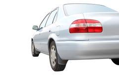 Back car on white background. Royalty Free Stock Photo