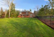 House Cedar Siding End Gable Section Stock Image Image