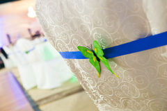 Back of chair with butterfly decoration Royalty Free Stock Image