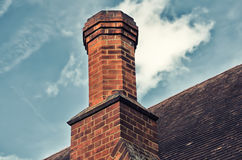 Back chimney with blue sky Stock Image