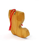 Back Christmas Boot Ornament Stock Photo