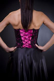Back of a cocktail dress Royalty Free Stock Photography