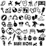 Back color baby icons Royalty Free Stock Photography