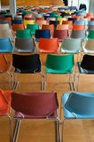 Back of colorful chairs Royalty Free Stock Photo