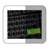 back computer keyboard with gear symbol icon Royalty Free Stock Photos