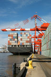 Back of container ship Royalty Free Stock Photos